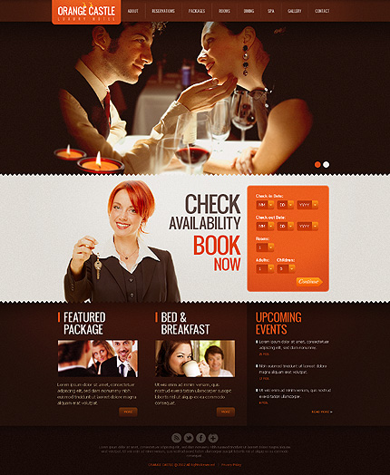 Hotel Reservation Website Design
